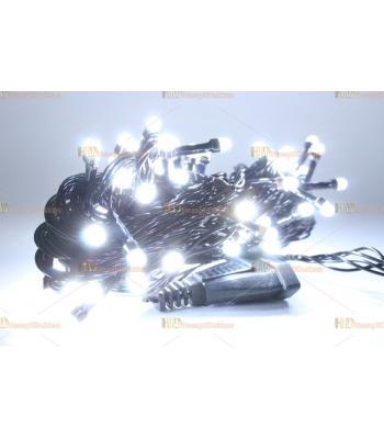 Yılbaşı ışıkları beyaz 80 led eklemeli fonksiyonel siyah kablo