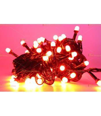 Yılbaşı ışıkları kırmızı fonksiyonel siyah kablo 80 led eklemeli