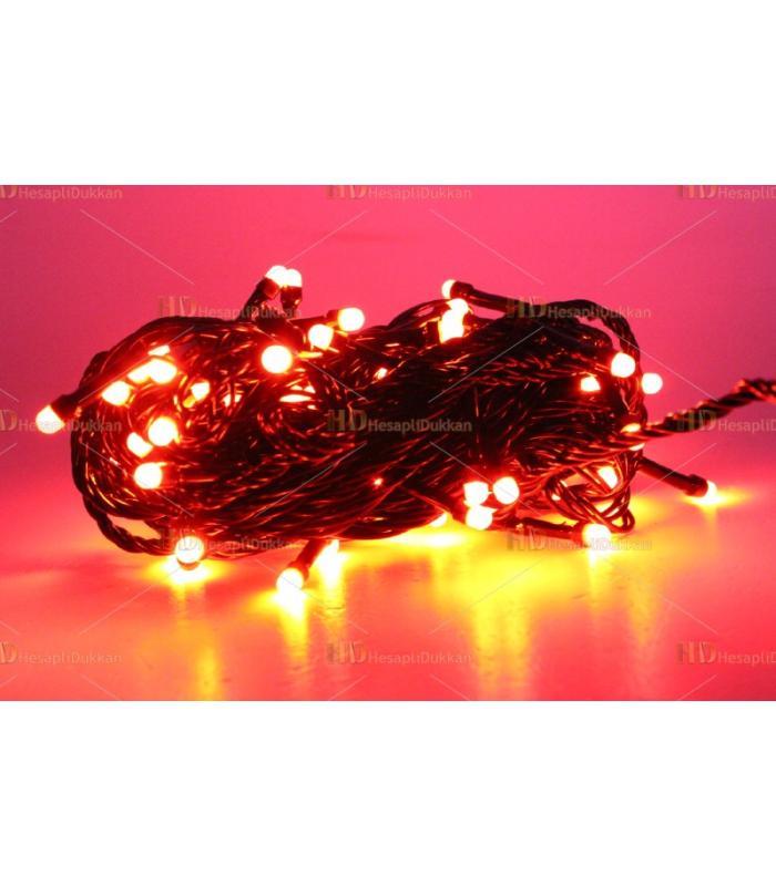 Yılbaşı ışıkları kırmızı 80 led fonksiyonel eklemeli