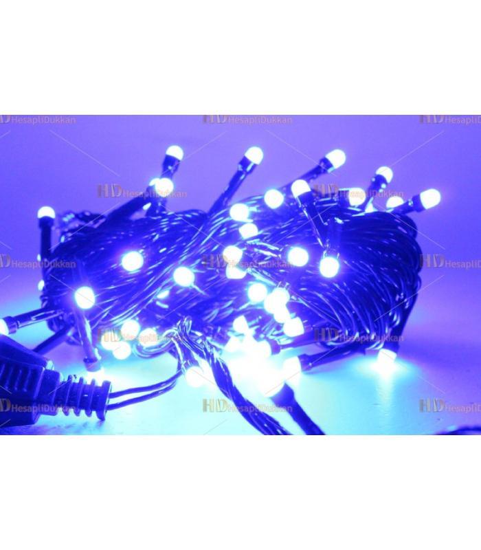 Yılbaşı ışıkları küçük mavi 80 led eklemeli fonksiyonel