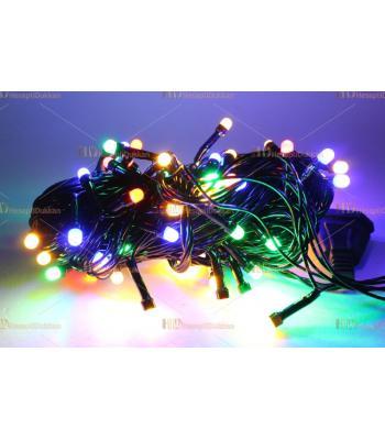 Yılbaşı ışıkları rgb karışık renk renkli 80 led fonksiyonel eklemeli