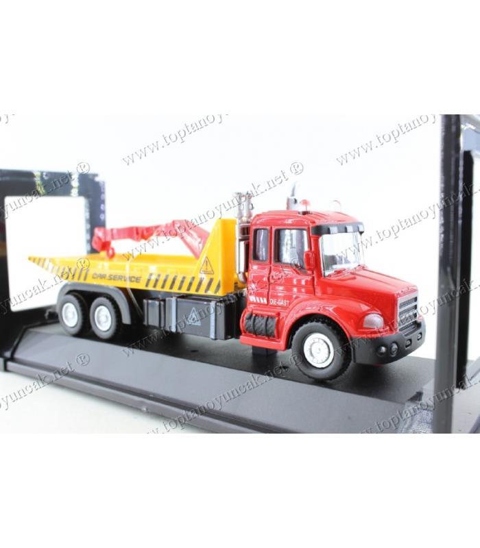Promosyon oyuncak çekici kamyon die cast metal çek bırak