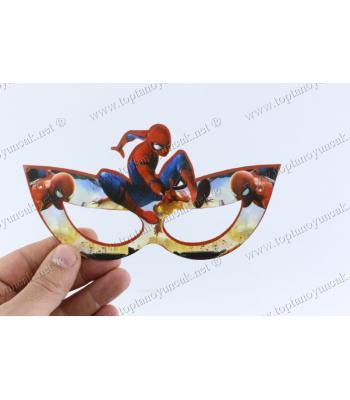 Toptan çocuk maske doğum günü karton örümcek adam