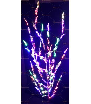 Işıklı yılbaşı ağacı 120 led yaprak hareketli ışık 160 cm Metal gövde