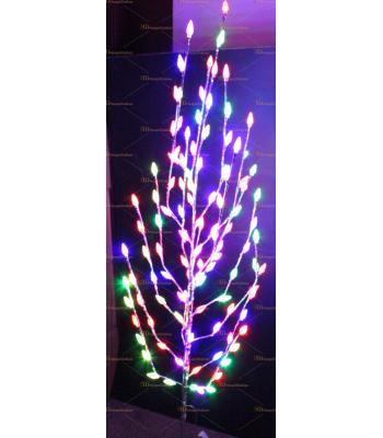 Işıklı yılbaşı ağacı 120 led kozalak hareketli ışık 160 cm Metal gövde