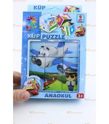 Küp puzzle ana okulu eğitici oyuncak