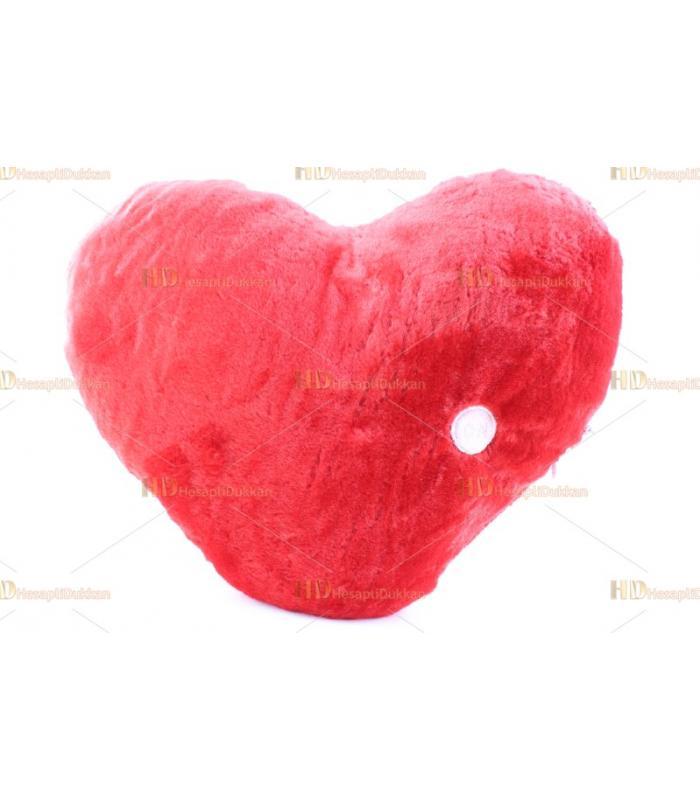 Işıklı sevgililer günü kalp yastık peluş
