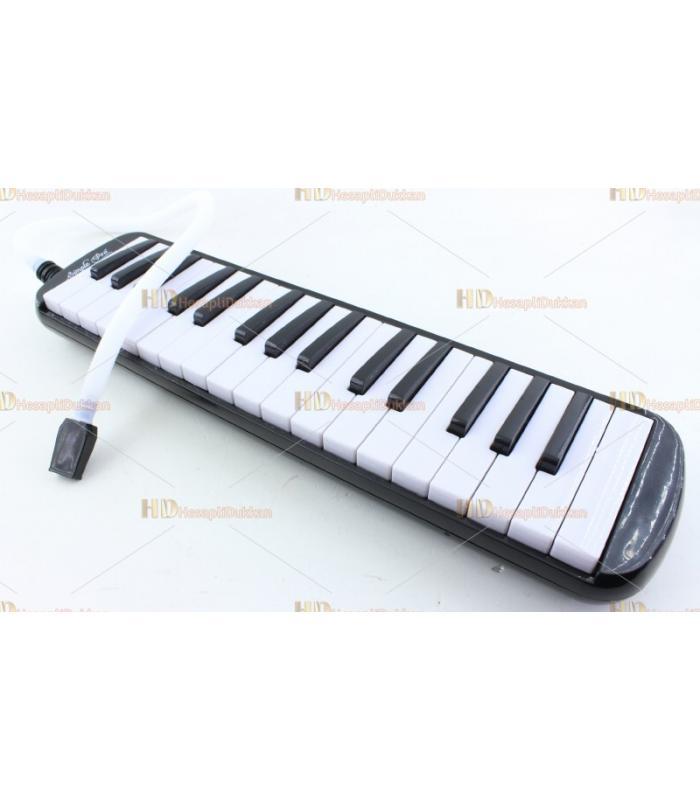 Tuşlu melodika çantalı siyah