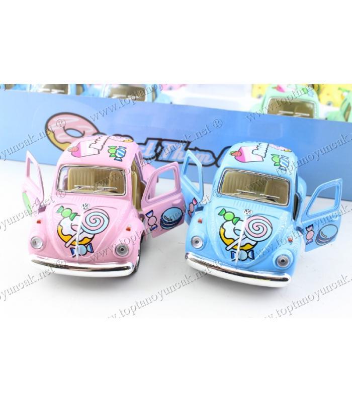 Nikah şekeri oyuncak doğum günü hediye vosvos araba metal 10 cm