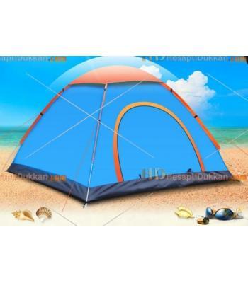 Otomatik açılan 4 kişilik kamp çadırı