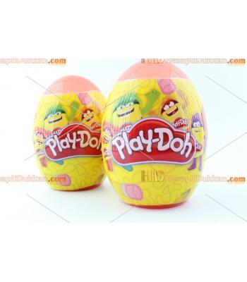 Büyük boy lisanslı playdoh oyun hamuru seti hediyeli dev yumurta
