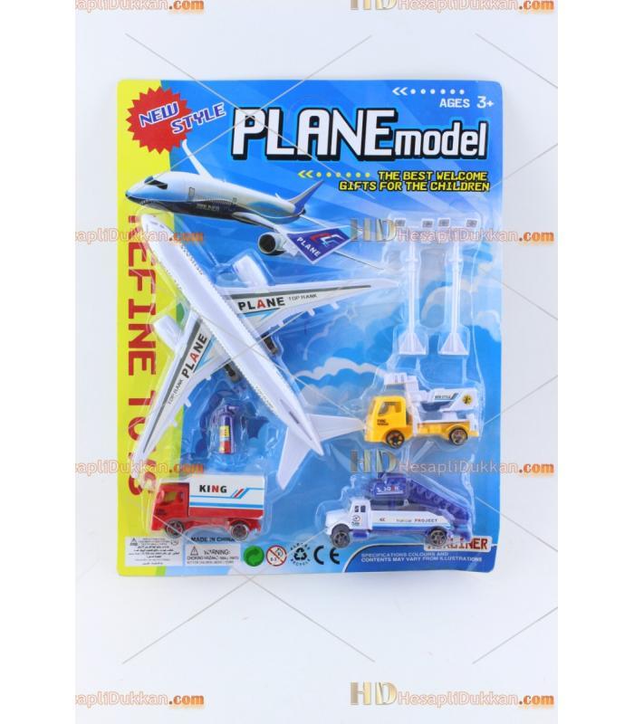 Uçak hava alanı seti oyuncak