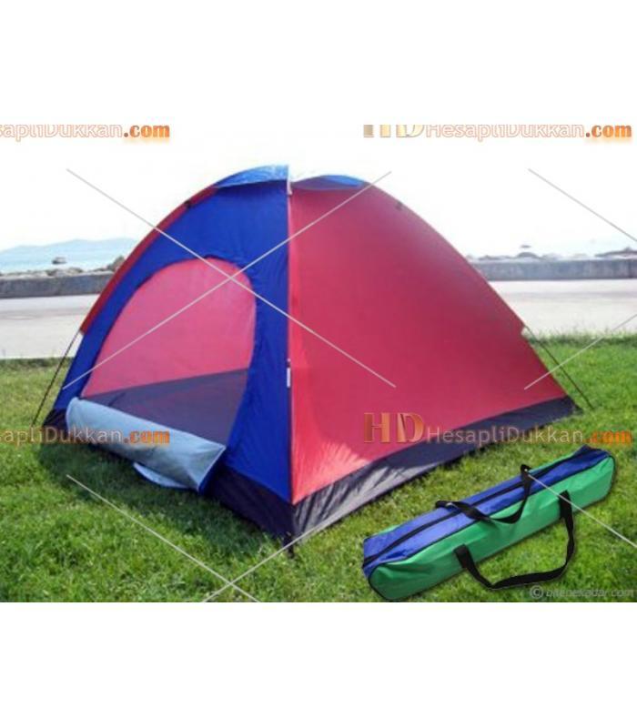 6 Kişilik kamp çadırı kolay kurulum