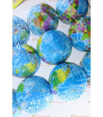 Ucuz toptan fiyat promosyon dünya stres topu 10 cm