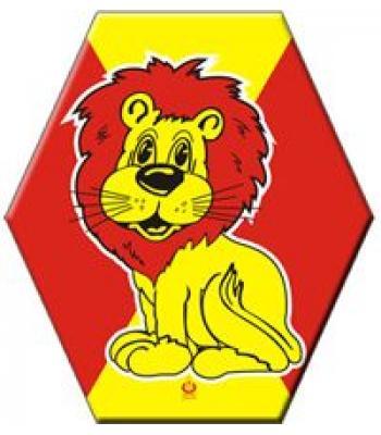 Toptan ucuz uçurtma sarı kırmızı aslanlı