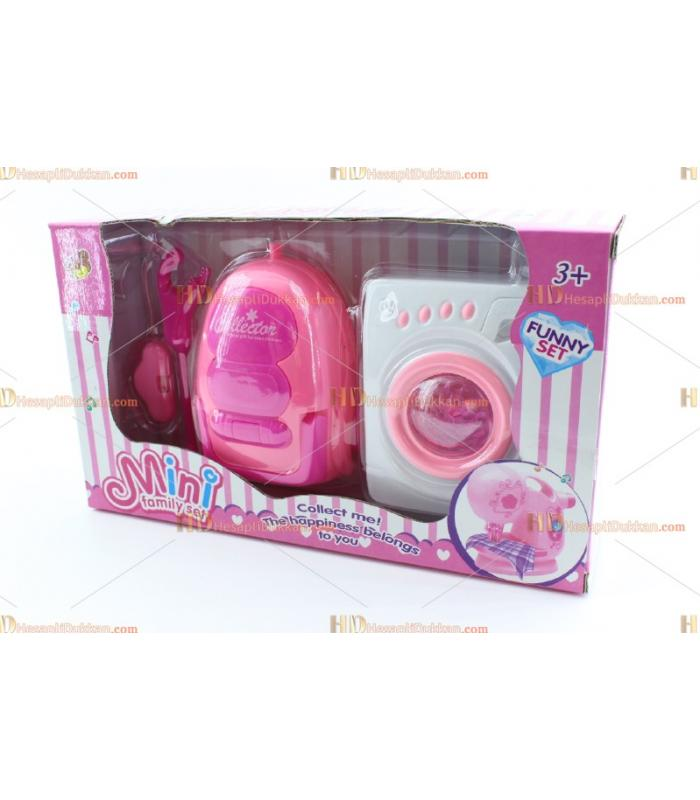 Toptan oyuncak çamaşır makinesi elektrikli süpürge set