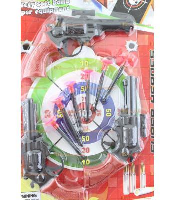Toptan oyuncak üç ok atan tabancalı set