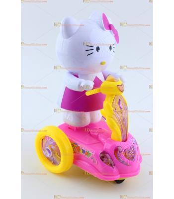 Toptan ışıklı oyuncak hello kitty scooter