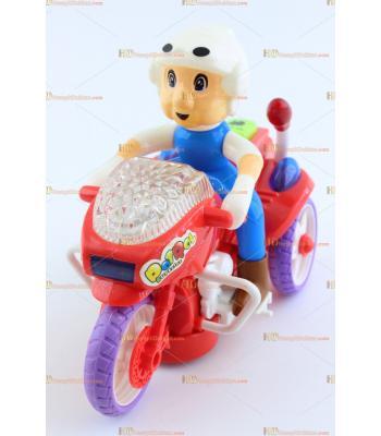 Toptan ışıklı oyuncak müzikli dolaşmalı polis motosiklet