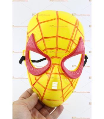 Toptan örümcek maske sarı kırmızı