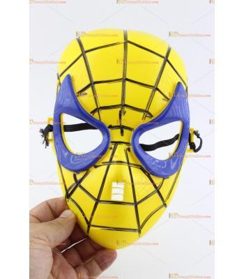 Toptan örümcek maske sarı lacivert