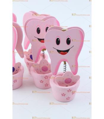 Bebek diş notluk pembe diş buğdayı şekeri için