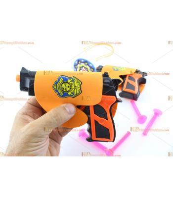 Toptan oyuncak tabanca ikili silikon oklu