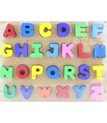 Toptan ahşap harfler alfabe eğitici oyuncak ucuz fiyat
