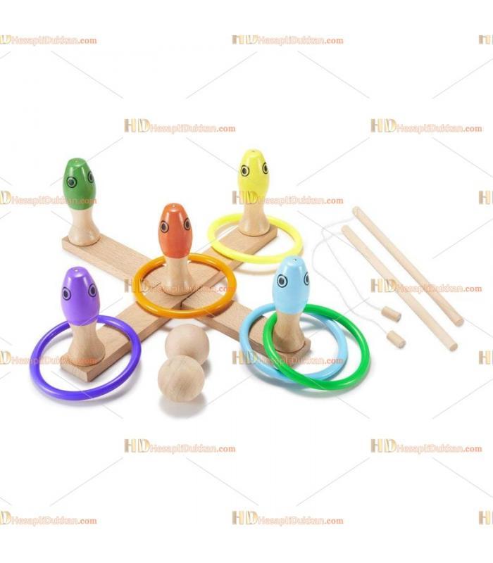 3 in 1 ahşap eğitici oyuncak seti