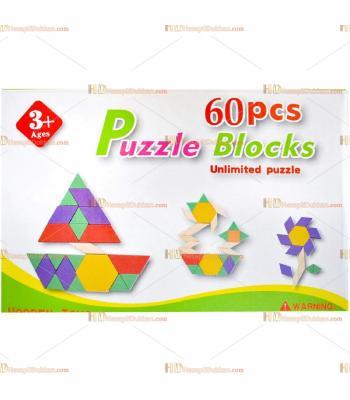 Toptan 60 parça tangram puzzle blok
