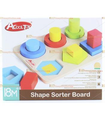 Toptan ahşap oyuncak geometri blok