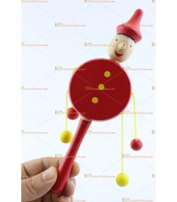 Toptan pinokyo ipli davul promosyon oyuncak ahşap eğitici