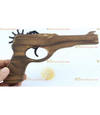 Toptan ahşap lastik fırlatan atan tabanca oyuncak hediyelik eşya