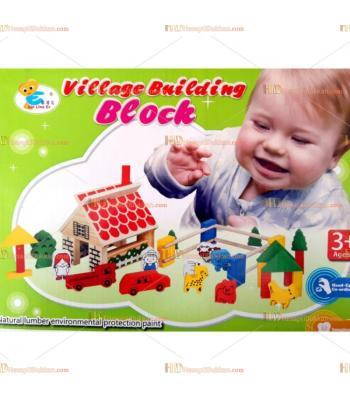 Köy yapma seti ahşap eğitici oyuncak