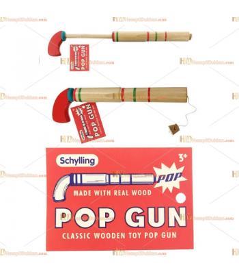 Geleneksel ahşap pop gun pat pat tabanca