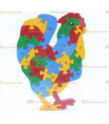 Toptan parçalı ahşap yapboz puzzle horoz