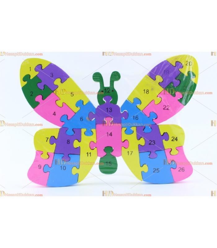 Toptan parçalı ahşap yapboz puzzle kelebek