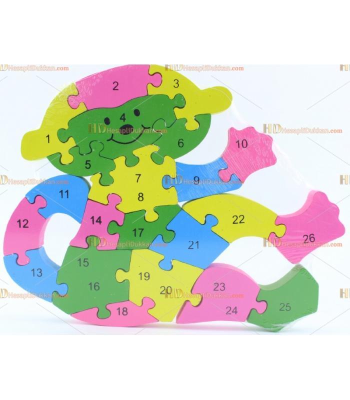 Toptan parçalı ahşap yapboz puzzle maymun