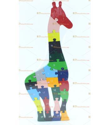 Toptan parçalı ahşap yapboz puzzle zürafa
