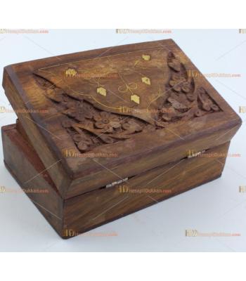 Toptan ahşap işlemeli kutu hediyelik