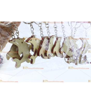 Toptan ahşap anahtarlık yunus balık