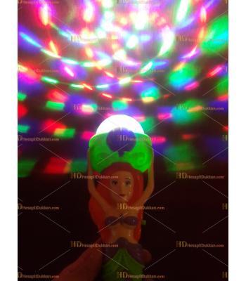 Toptan ışıklı oyuncak deniz kızı dönen asa