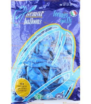 Toptan balon gemar mavi metalik