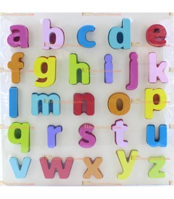 Toptan eğitici oyuncak harfler alfabe ahşap büyük boy