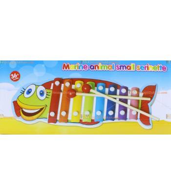 Toptan balıklı ksilofon selefon serisi ahşap eğitici oyuncak toptan