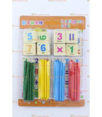 Toptan ahşap eğitici oyuncak matematik çubuklar ve sayılar