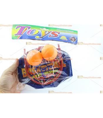 Toptan promosyon oyuncak basket potası mini boy iki top