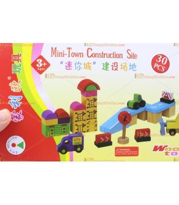 Toptan eğitici oyuncak inşaat araçları ahşap seti