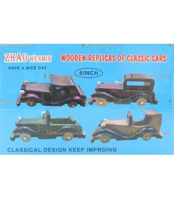Toptan hediyelik eşya dörtlü ahşap otantik klasik araba