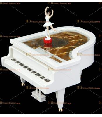 Toptan hediyelik eşya dans eden balerin piyano müzik kutusu